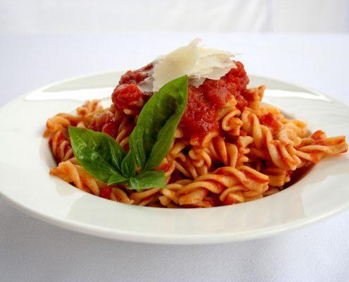 Spiral Pasta with Napolitana Tomato Sauce