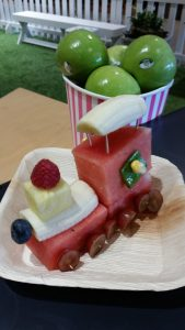 Best Ways for Children to Play with Their Food and eat it too - train