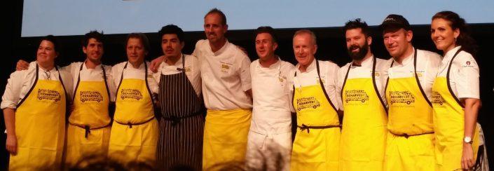 CEO CookOff Dominique Rizzo with Brisbane's top chefs