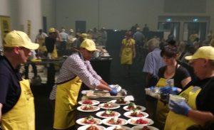 CEO CookOff preparing meals