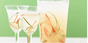 Easy summer entertaining - Lime and lychee wine spritzer