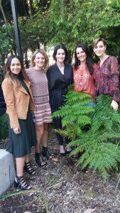 Footy Food - Maroon Festival 2017 Kayla Boyd, Rachel Thaiday, Lisa Carlaw, Dominique Rizzo, Sarah Wills