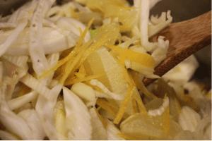 Sustainable kitchen garden Chef Dominique Rizzo - Fennel and lemon relish