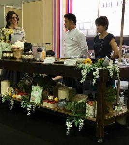 Good Food and Wine Show with Chef Dominique Rizzo - Chef Dominique, Chef Shin and translator.