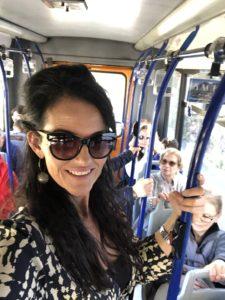 My day on Isle of Capri - Dominique Rizzo food wine tours - Dominique on bus