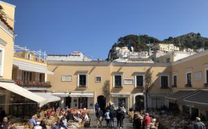 My day on Isle of Capri - Dominique Rizzo food wine tours - Capri piazza