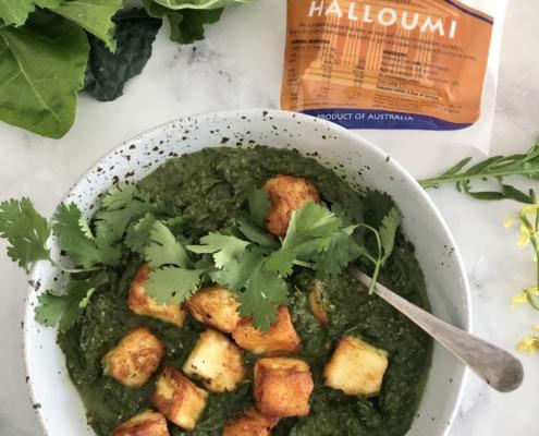 Palak Halloumi curry